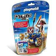 Playmobil 6164 Dôstojník pirátov s interaktívnym modrým kanónom - Stavebnica