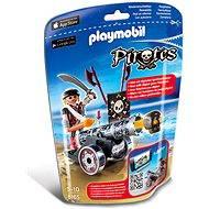 Playmobil 6165 Pirát s interaktívnym čiernym kanónom - Stavebnica