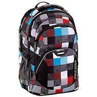CoocaZoo JobJobber Checkmate Blue Red - Školský batoh