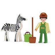 IGRÁČIK – Ošetrovateľ a zebra - Herná súprava