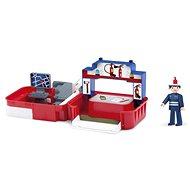 IGRÁČIK Handy – Požiarna stanica s hasičom - Herná súprava