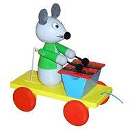 Ťahací myš s xylofónom - Ťahacia hračka