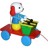 Ťahací pes s xylofónom - Ťahacia hračka