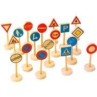 Drevené detské dopravné značky veľké - Herná súprava