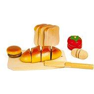 Drevené potraviny - Krájanie - Herná súprava