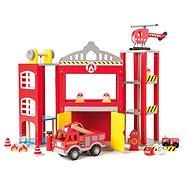 Woody Veľká hasičská stanica s autíčkami - Herná súprava