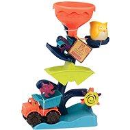 B-Toys Vodné mlynček s nákladiakom - Súprava na piesok