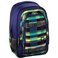 Hama All Out Selby Backpack Summer Check Green - Školský batoh