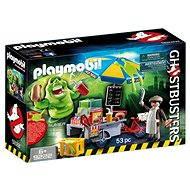 Playmobil 9222 Ghostbusters Slimer pri stánku s hotdogmi - Stavebnica