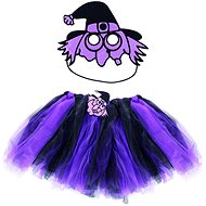 Rappa Čarodejnice / halloween fialová - sukňa + maska - Detský kostým