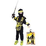 Rappa Ninja čierno-žltý, vel. S - Detský kostým