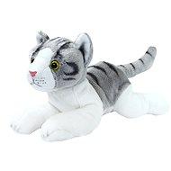 Rappa Mačka šedo-biela, ležiace malá - Plyšová hračka
