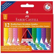 Faber-Castell Pastelky Plastic Colour Grip Jumbo, 12 Barev - Pastelky