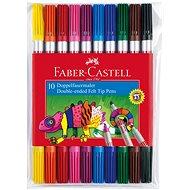 Faber-Castell Oboustranné Popisovače, 10 Barev - Fixky