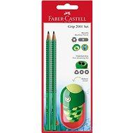 Faber-Castell Grafitová Tužka Grip 2001 2 ks + Ořezávátko Kids - Súprava kancelárskych potrieb