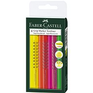 Faber-Castell Grip Marker Textliner, 4 ks - Zvýrazňovač