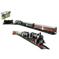 Vlak + 3 vagóny s koľajami 24 ks - Vláčikodráha