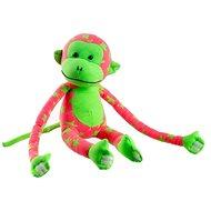 Opice svítící ve tmě růžová/zelená - Plyšová hračka