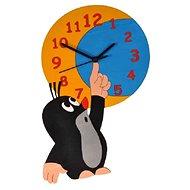 Dodo Dětské dřevěné hodiny Krtek a měsíc - Hodiny do detskej izby