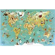 Vilac Nástenná magnetická mapa sveta 78 dielikov