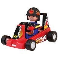 Igráček Závodník s motokárou - červená - Figúrka