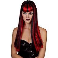 Parochňa červenočierná - dlhé vlasy - Detský kostým