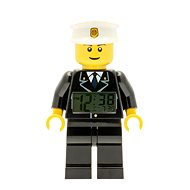 LEGO City Policeman - hodiny s budíkem