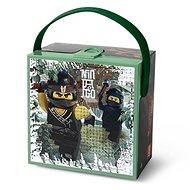 LEGO Ninjago box s rukojetí - army zelená