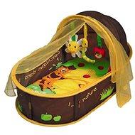 Ludi Cestovná postieľka pre bábätko Nomad hnedá - Detský nábytok