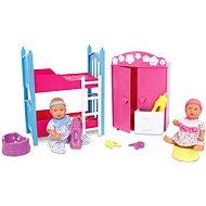 Simba New Born Baby Detská izba + 2 bábiky (pije + ciká) - Súprava bábik
