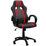 Kancelárska stolička Hawaj červeno / čierna s pruhmi