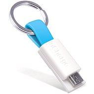 inCharge Micro USB Cyan, 0.08m - Dátový kábel
