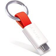 inCharge Micro USB Red, 0.08m - Dátový kábel