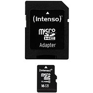 Intenso Micro SDHC 16GB Class 10 + SDHC adaptér - Pamäťová karta