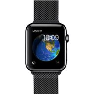 Apple Watch 38mm Vesmírne čierna nerez oceľ s vesmírne čiernym milánskym ťahom - Inteligentné hodinky