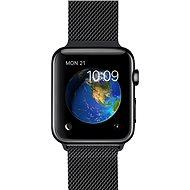 Apple Watch 38 mm Kozmicky čierna antikorová oceľ s kozmicky čiernou milánskou slučkou - Inteligentné hodinky
