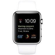 Apple Watch 42mm Nerez oceľ s bielym remienkom - Inteligentné hodinky