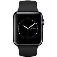 Apple Watch 42mm Vesmírne čierna antikorová oceľ s čiernym remienkom - Inteligentné hodinky