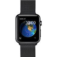 Apple Watch 42mm Vesmírne čierna nerez oceľ s čiernym milánskym ťahom - Inteligentné hodinky