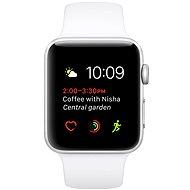 Apple Watch Series 1 38mm Strieborný hliník s bielym športovým remienkom - Inteligentné hodinky