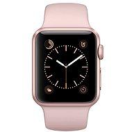 Apple Watch Series 1 38mm Ružovo zlatý hliník s pieskovo ružovým športovým remienkom - Inteligentné hodinky