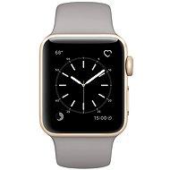 Apple Watch Series 1 38mm Zlatý hliník s cementovo šedým športovým remienkom - Inteligentné hodinky