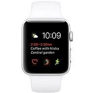 Apple Watch Series 1 42mm Strieborný hliník s bielym športovým remienkom - Inteligentné hodinky