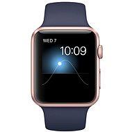 Apple Watch Series 1 42mm Ružovo zlatý hliník s modrým športovým remienkom - Inteligentné hodinky