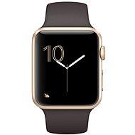 Apple Watch Series 1 42 mm Zlatý hliník s kakaovo hnedým športovým remienkom - Inteligentné hodinky