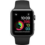 Apple Watch Series 1 42mm Vesmírne šedý hliník s čiernym športovým remienkom - Inteligentné hodinky