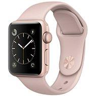 Apple Watch Series 1 42mm Ružovo zlatý hliník s pieskovo ružovým športovým remienkom - Inteligentné hodinky