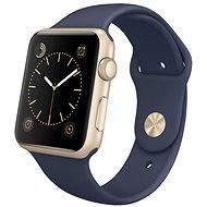 Apple Watch Series 1 42mm Zlatý hliník s polnočne modrým športovým remienkom - Inteligentné hodinky