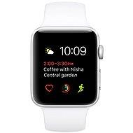 Apple Watch Series 2 42 mm Strieborný hliník s bielym športovým remienkom - Inteligentné hodinky