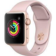 Apple Watch Series 3 38 mm GPS Zlatý hliník s pieskovo ružovým športovým remienkom - Inteligentné hodinky